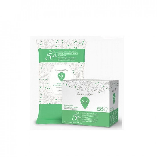 Summers Eve 5 In 1 Cleaning Wipes, Aloe Love - 16 Pieces